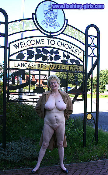 British mature public flashing videos