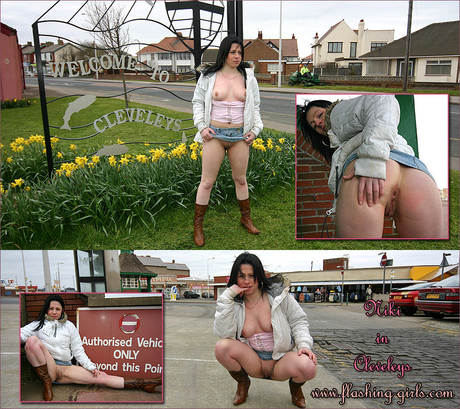 Flashing-Girls Niki flashing nude in Cleveleys