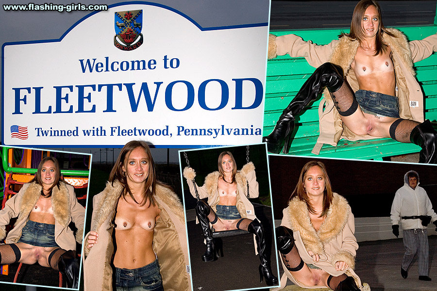 nude flashing girls - naked sarah flashing nude in public in fleetwood