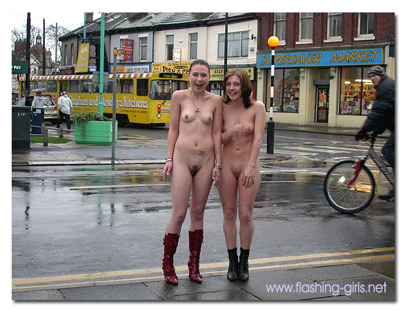 Nude Girls Flashing And Walking Naked In Public Are Eposed