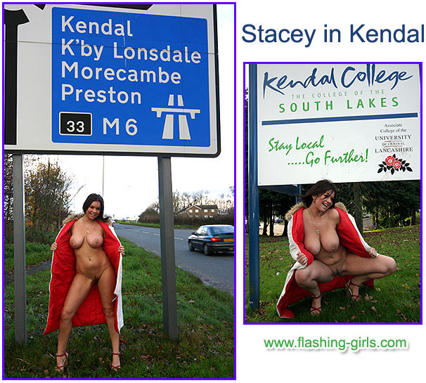 flashing-girls pictures of Stacey flashing naked in public