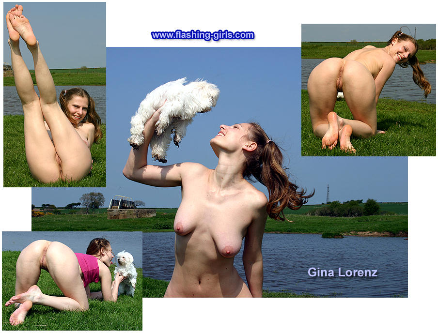 Gina Lorenz naked outside