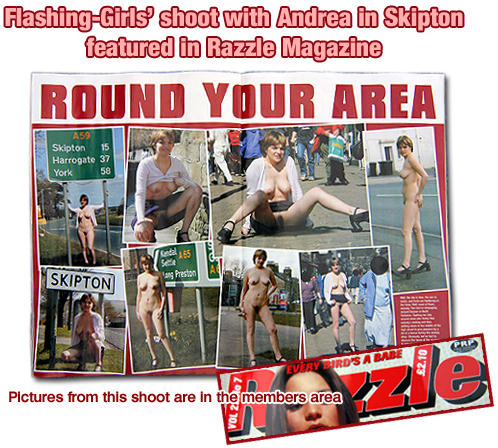 nude in public flashing girls in razzle magazine